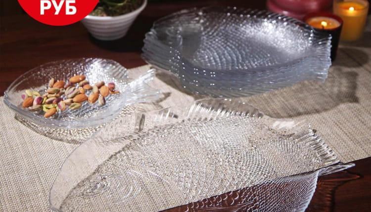НОВИНКА! Тарелка из упрочненного стекла «Marine» размером 26х21