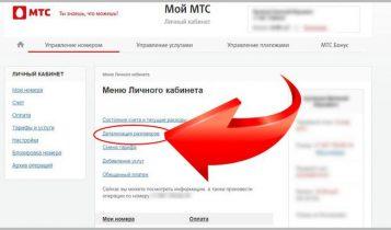 Детализация звонков и СМС в МТС