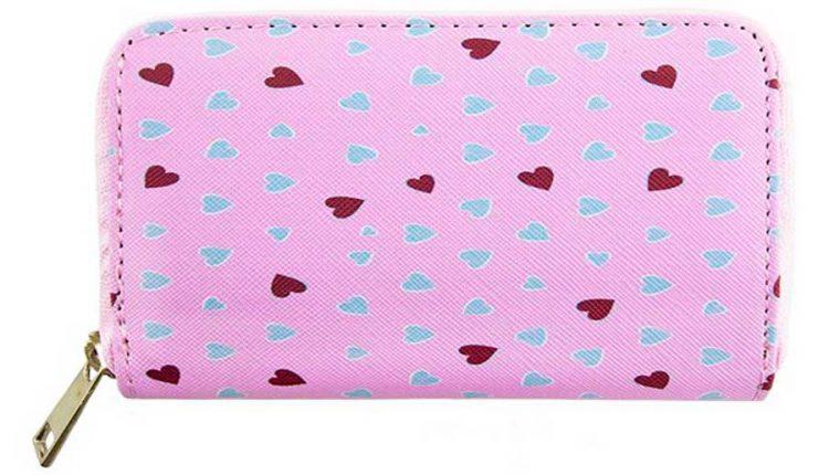 Розовый кошелек на молнии из Фикс Прайс