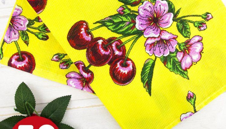 НОВИНКА Красочное вафельное полотенце размером 45х80 см —
