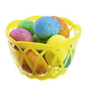 Яйца декоративные пасхальные, 10 шт, 6 см