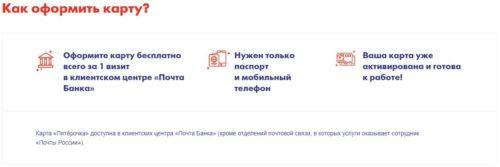 Карта Пятерочка от Почта Банк