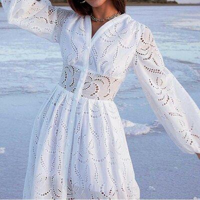 Что нужно знать, выбирая платье из прошвы